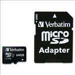 VERBATIM, MICRO, SDHC, 64GB, (CLASS10, WITH, UHS-1), +, ADPTR,