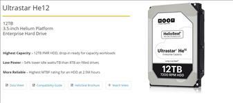HGST, 3.5, 12TB, 256MB, 7200RPM, HE12, SATA, ULTRA, 512E, ISE, HUH721212ALE600, -, 5yrs, Warranty, -, Hitachi,