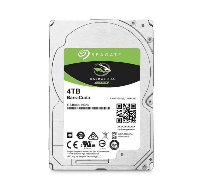 Seagate, BARRACUDA, 2.5IN, 4TB, SATA, HDD, 5400RPM,