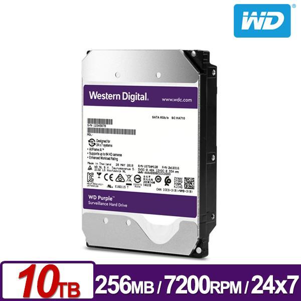 WD, PURPLE, WD101PURZ.10TB, 256MB, SATA, 6GB/S, 7200RPM, 3.5,