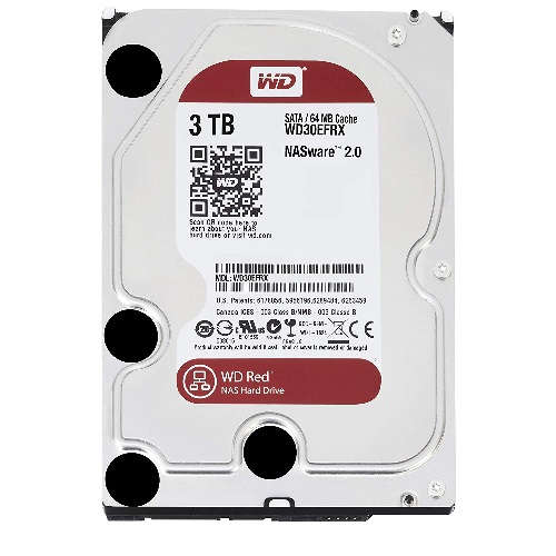 WD, RED, WD30EFRX, Caviar, 3TB, Intellipower, DDR2/150MBs/3.5,