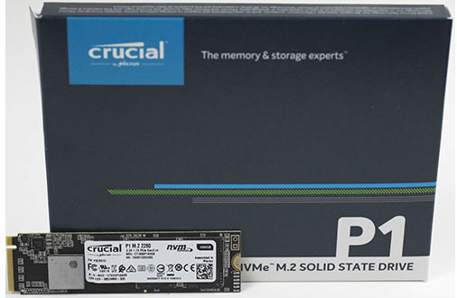 Crucial, P1, 1TB, PCIe, NVMe, SSD, 2000/1700, MB/s, R/W, 200TBW, 1.8mil, hrs, MTTF, Acronis, True, Image, Cloning, Software, 5yrs, wty,