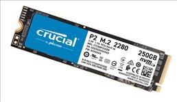 Crucial, P2, 250GB, 3D, NAND, NVMe, PCIe, M.2, SSD, 2100R/1150W(seq)MB/s, [CT250P2SSD8], 5yr, wty,