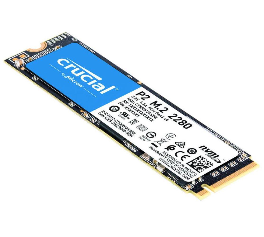 Crucial, P2, 500GB, 3D, NAND, NVMe, PCIe, M.2, SSD, 2300R/940W(seq)MB/s, [CT500P2SSD8], 5yr, wty,