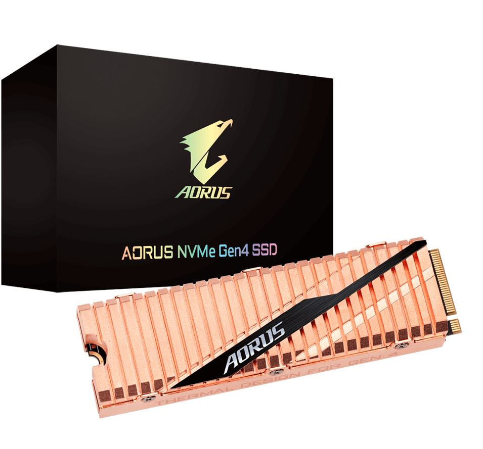 GIGABYTE, AORUS, NVMe, GEN4, SSD, 2TB, M.2, 2280, PCIe, UP, TO, READ, 5000, MB/s, WRITE, 4400, MB/s, 5YR,