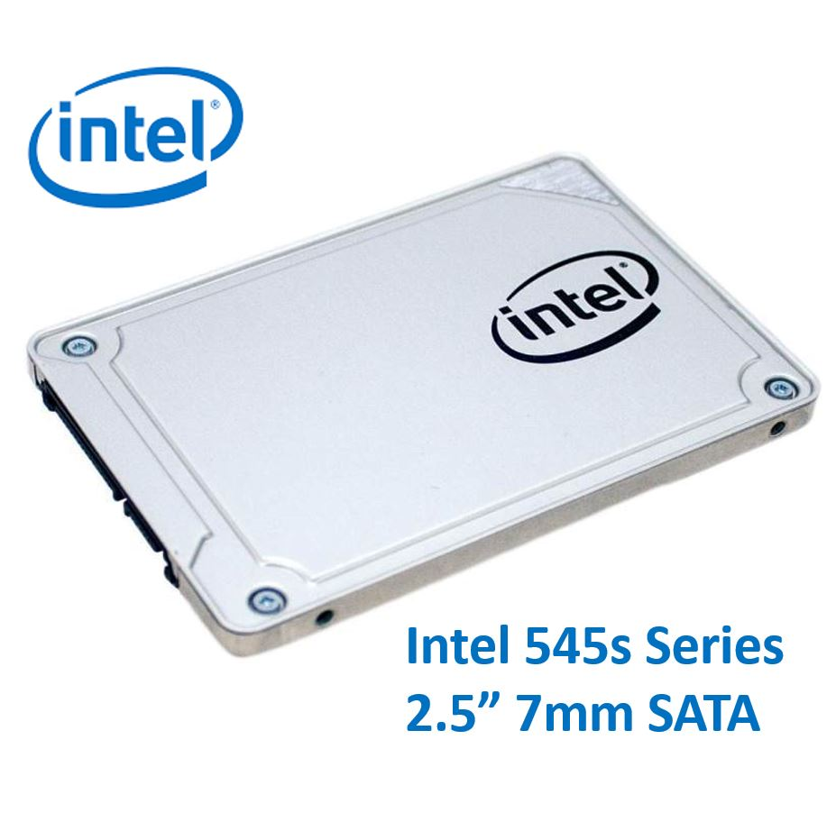 Intel, 545s, Series, 2.5, 512GB, SSD, SATA3, 6Gbps, 550/500MB/s, 7mm, TCL, 3D, NAND, 75K/85K, IOPS, 1.6, Million, Hours, MTBF, Solid, State,