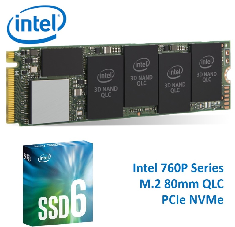 Intel, 660P, Series, M.2, 80mm, 2TB, SSD, 3D2, QLC, PCIe, NVMe, 1800R/1800W, MB/s, 220K/220K, IOPS, 1.6, Million, Hours, MTBF, Solid, State,