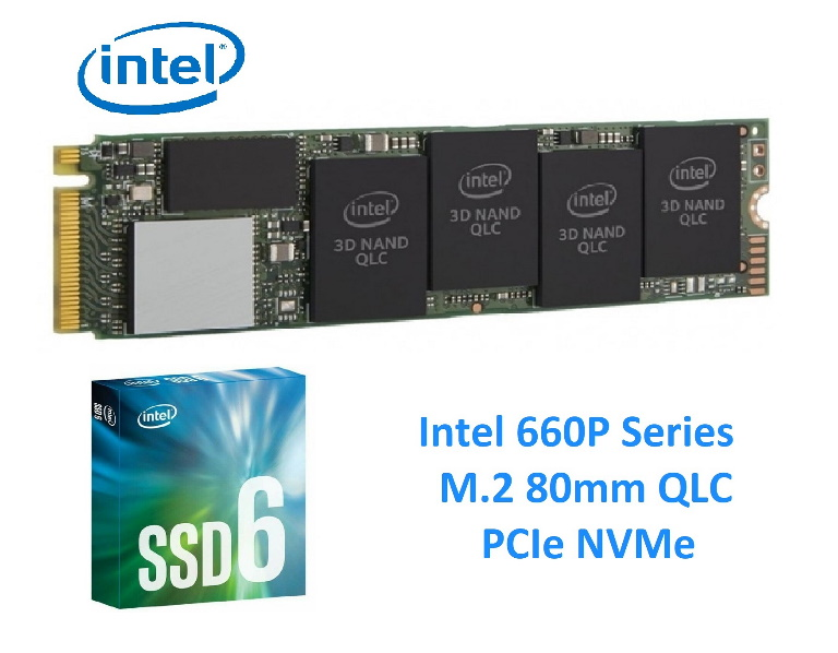 INTEL, 660p, SERIES, SSD, M.2, 80MM, PCIe, 512GB, 1500R/1000W, MB/s, RETAIL, BOX, 5YR, WTY,