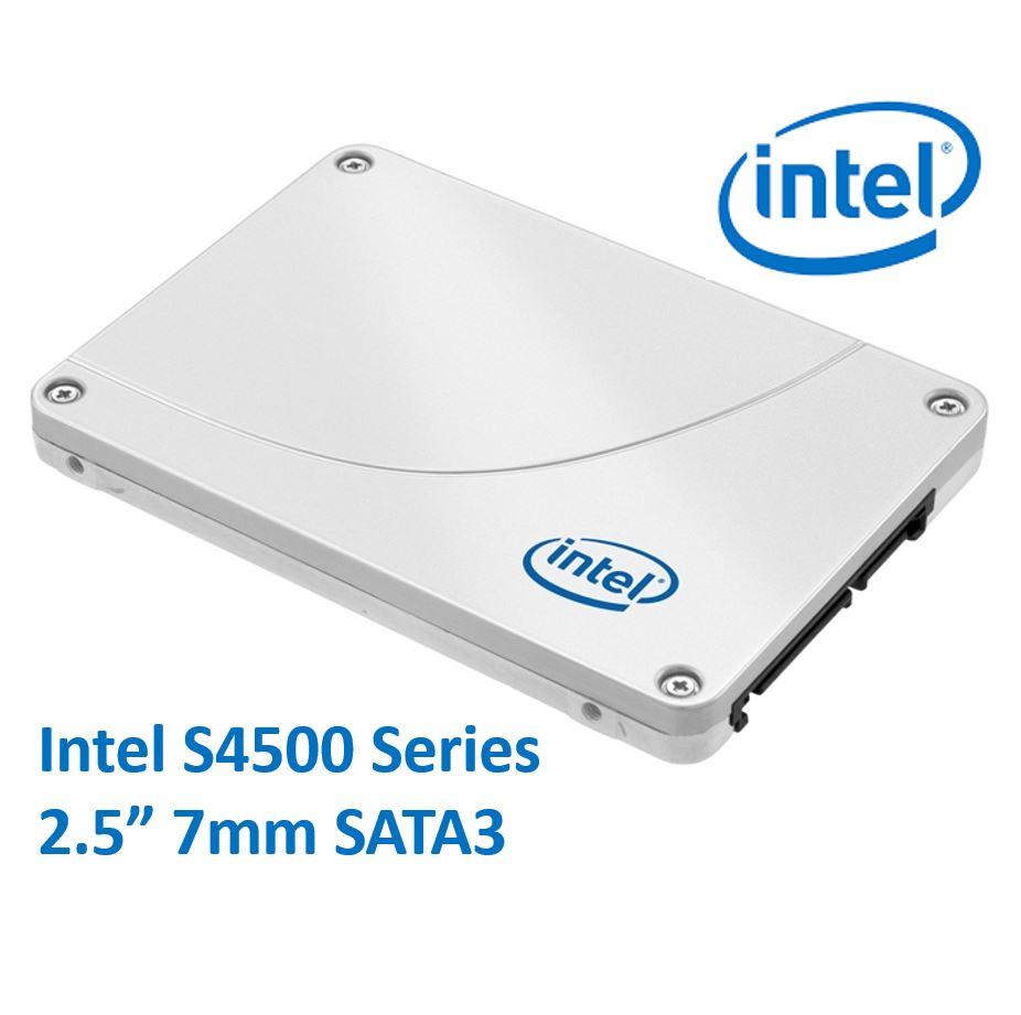 Intel, DC, S4500, 2.5, 240GB, SSD, SATA3, 6Gbps, 7mm, 500/190MB/s, 69K/16K, IOPS, 1, DWPD, 2, Million, Hours, MTBF, Data, Center, Server, So,