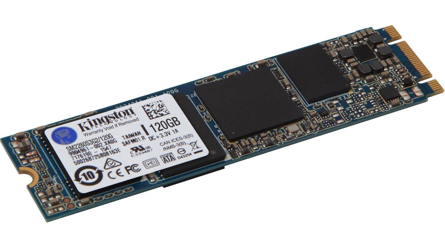 Kingston, G2, 120GB, M.2, 2280, SSD, SATA, 6Gbps, 550/520MB/s, 90, 000/48, 000, IOPS, 1, million, hours, MTBF, SFF, Solid, State, Drive, LS,