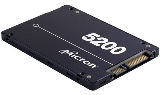 Micron, 5200, ECO, 3.84TB, 2.5, SATA3, 6Gbps, 7mm, Server, Data, Centre, SSD, 3D, TLC, NAND, 540R/520W, MB/s, 95K/17K, IOPS, 1DWPD, 3, Mil, h,