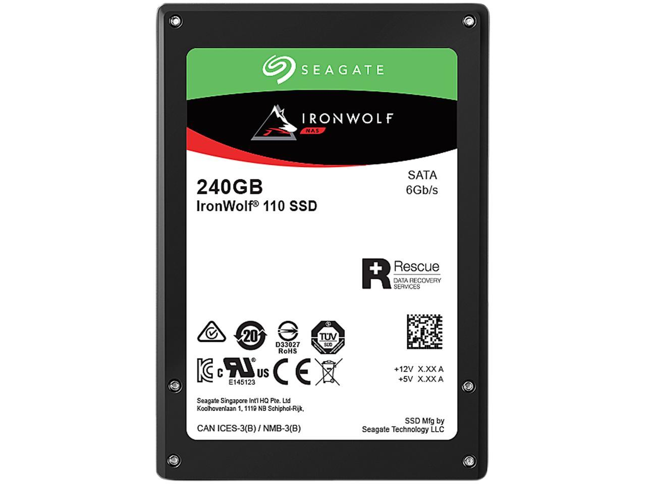 Seagate, IRONWOLF, 110, 240GB, 2.5in, SATA, Solid, State, Drive, (SSD),