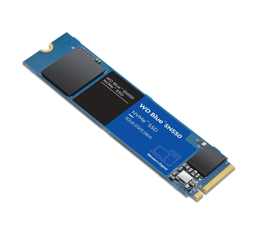 Western, Digital, WD, Blue, SN550, 500GB, NVMe, M.2, 2280, PCIe, Gen3, 8, Gb/s, SSD, 2240R/1750W, MB/s, 5, Year, Limted, Warranty, ~WDS500G1,