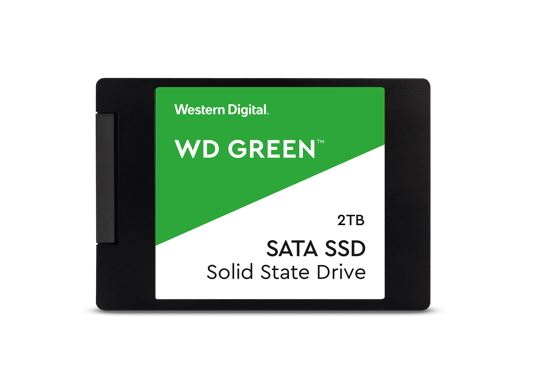 Western, Digital, WD, Green, 2TB, 2.5, SATA, SSD, 545R/430W, MB/s, 80TBW, 3D, NAND, 7mm, 3, Years, Warranty,