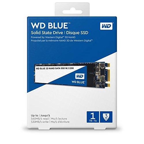 Western, Digital, Blue, 1TB, 3D, NAND, M.2, 2280, SSD, 560/530, R/W., 3, Years, Warranty, -, WDS100T2B0B,
