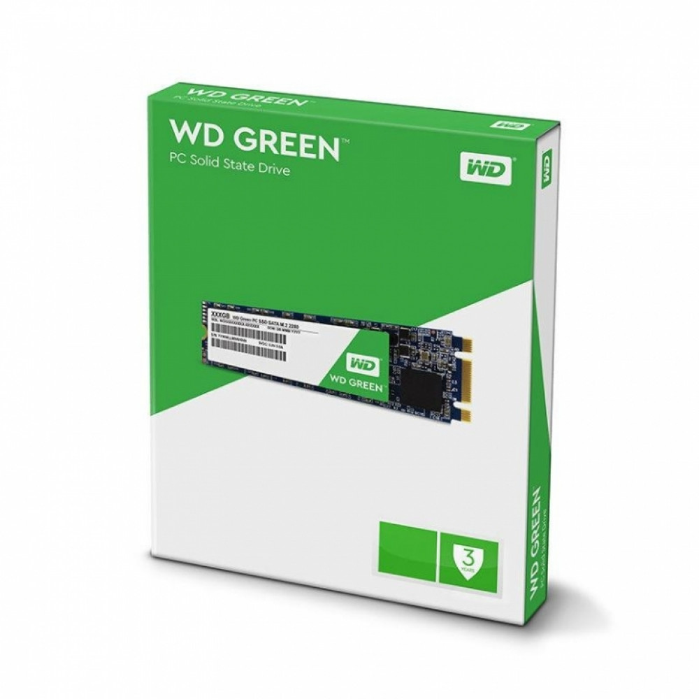 Western, Digital, Green, 120GB, M.2, 2280, SSD, Transfer, speeds, up, to, 545MB/s, -, 3, Years, Limited, Warranty,