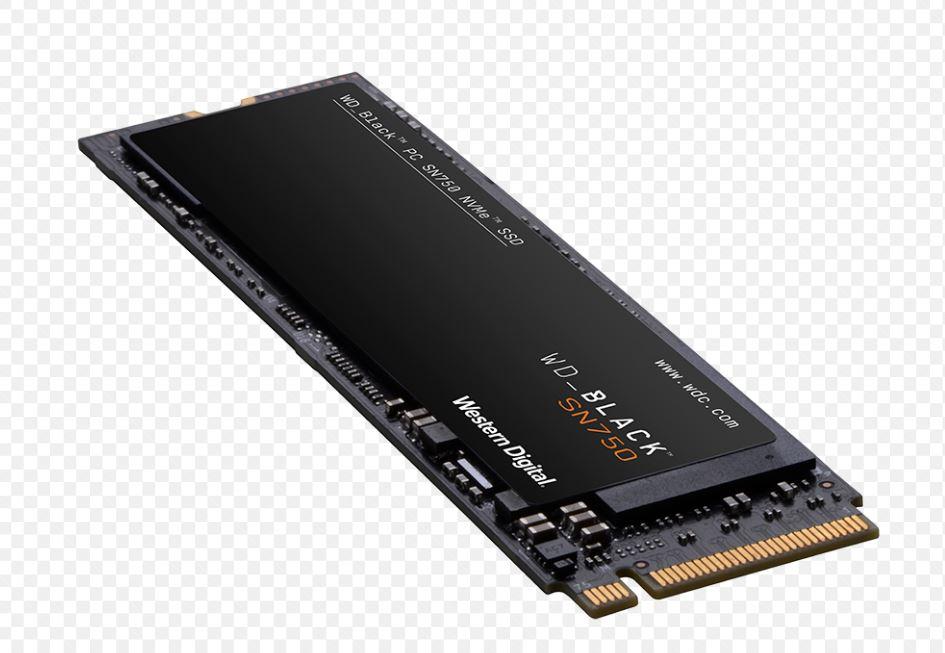 Western, Digital, Black, SN750, 2TB, NVMe, M.2, (2280), PCIe, 3x4, 3D, NAND, SSD, -, WDS200T3X0C,