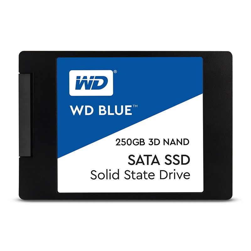 Western, Digital, Blue, 250GB, 2.5, 3D, NAND, SSD, 7MM, 550/525, R/W, SATA, 6GB., 5, Years, Warranty,