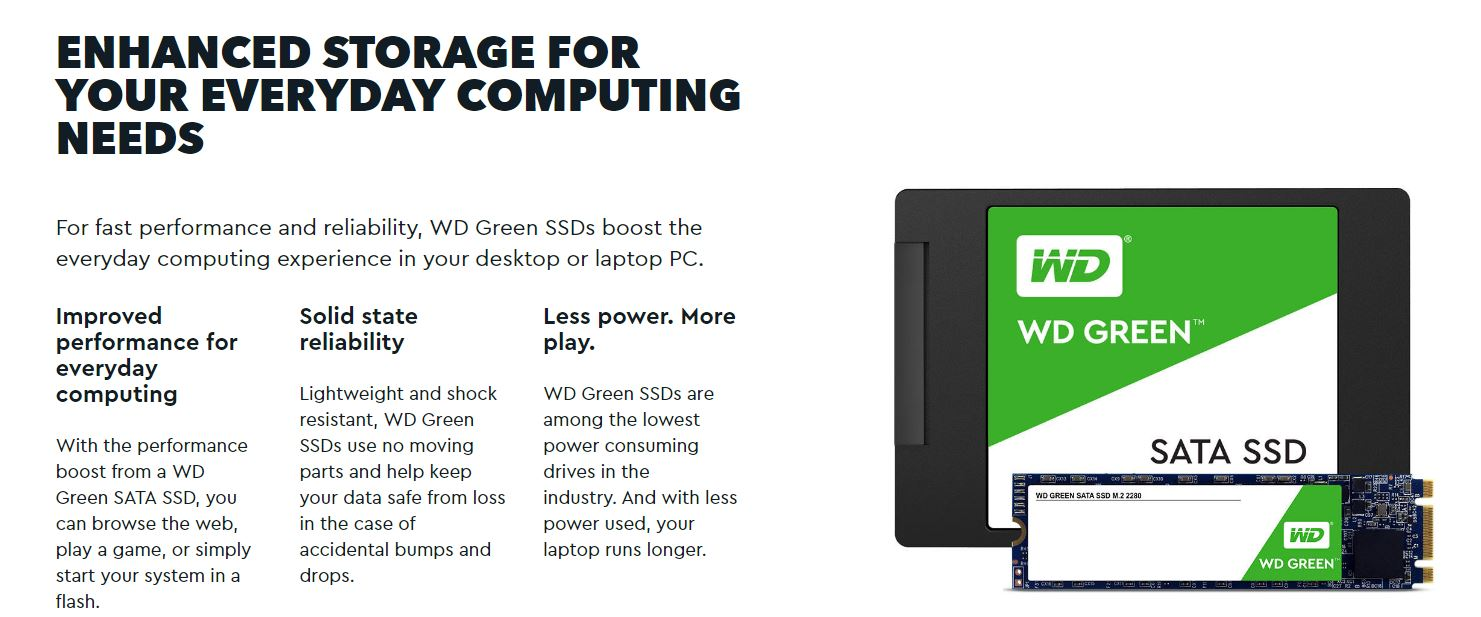 Western, Digital, Green, 480GB, M.2, 2280, SSD, Transfer, speeds, up, to, 545MB/s, -, 3, Years, Limited, Warranty,