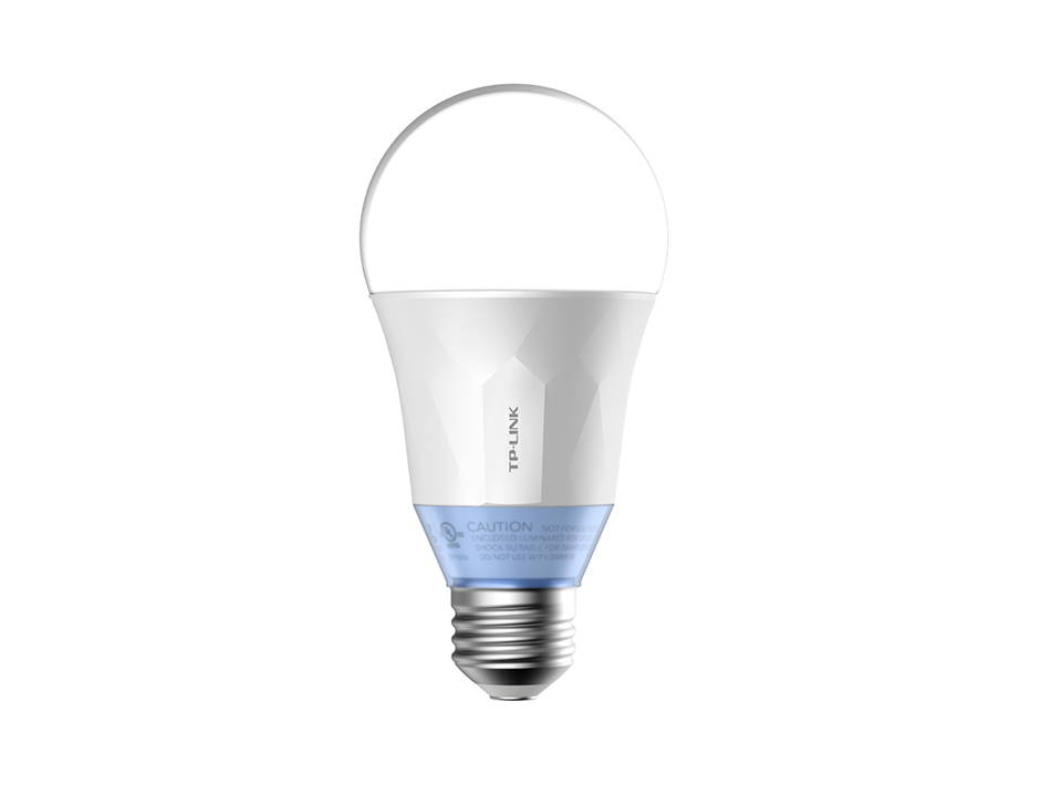 TP-Link, LB120, Smart, Wi-Fi, A19, LED, Bulb, Dimmable, Tunable, White, (2700-6500K), No, Hub, Required, 60W, Equivalent, 2.4GHz, 80,