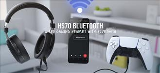 Corsair, HS70, Wired, &, Bluetooth, 5, for, 30, Hrs, 24-bit, USB, Audio, Discrod, 50mm, Driver, Headset, Black., PC, XBox, Switch, PS4,