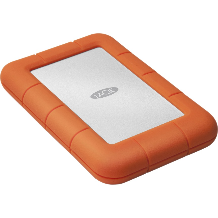 Lacie, 4TB, Rugged, Mini, Mobile, USB, 3.0, IP67-rated, extreme, water, resistance, to, drop, rain, dust, and, crush, resistance, A,