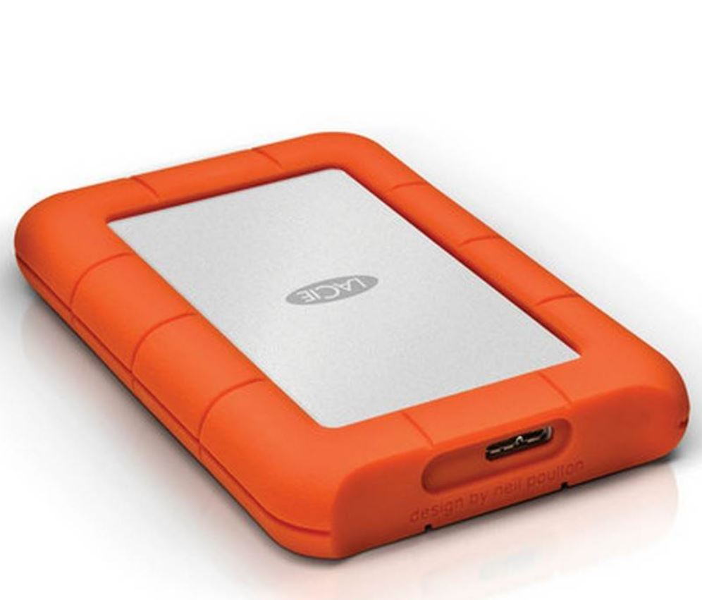 LaCie, Seagate, 2TB, Rugged, Mini, Portable, USB, 3.0, USB-C, Cable., External, HDD, LAC9000298, 2, Years, Warranty,