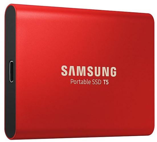Samsung, T5, 1TB, Portable, External, SSD, 540MB/s, USB3.1, Gen2, Type-C, 10Gbps, V-NAND, Shock, Resistant, Password, Protection, Win, Ma,