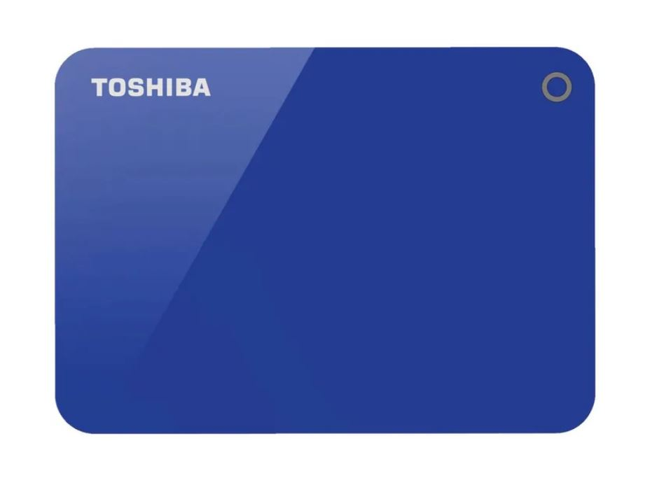 Toshiba, 4TB, CANVIO®, ADVANCE, PORTABLE, HARD, DRIVE, STORAGE, BLUE., 3, Years, Warranty., (HDTC940AK3CA),