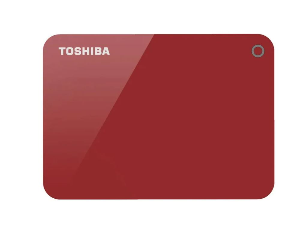 Toshiba, 4TB, CANVIO®, ADVANCE, PORTABLE, HARD, DRIVE, STORAGE, RED., 3, Years, Warranty., (HDTC940AK3CA),
