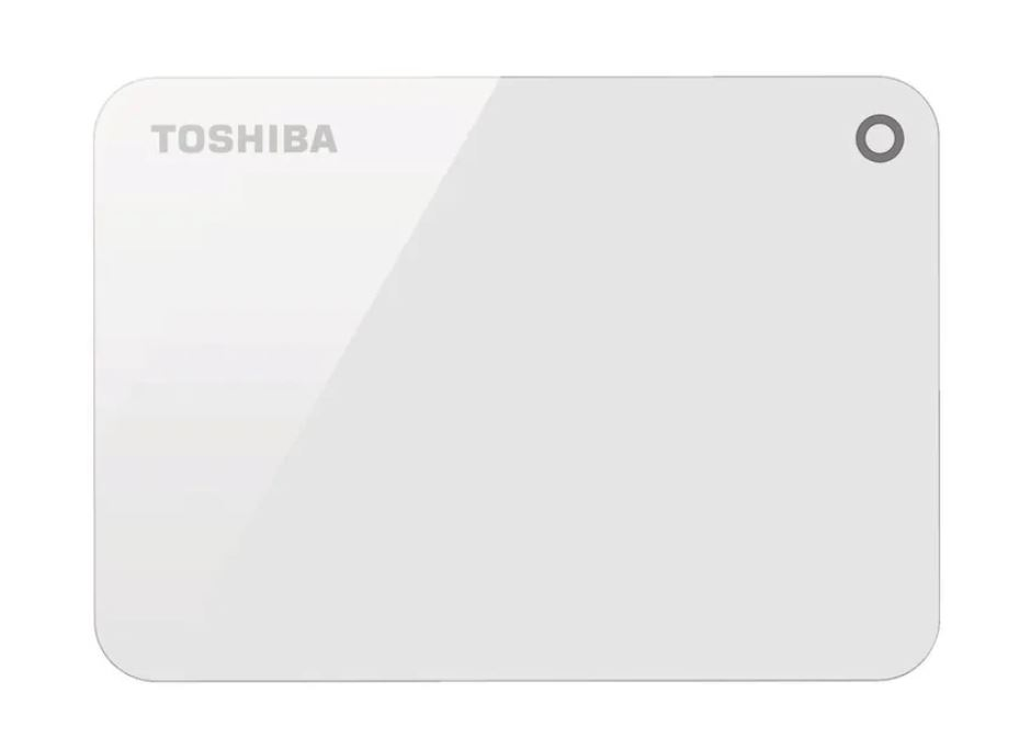 Toshiba, 4TB, CANVIO®, ADVANCE, PORTABLE, HARD, DRIVE, STORAGE, WHITE., 3, Years, Warranty., (HDTC940AK3CA),