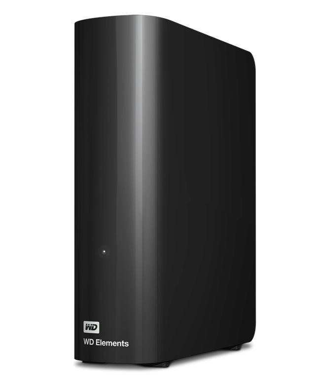 Western, Digital, WD, Elements, Desktop, 12TB, USB, 3.0, 3.5, External, Hard, Drive, -, Black, Plug, &, Play, Formatted, NTFS, for, Windows,