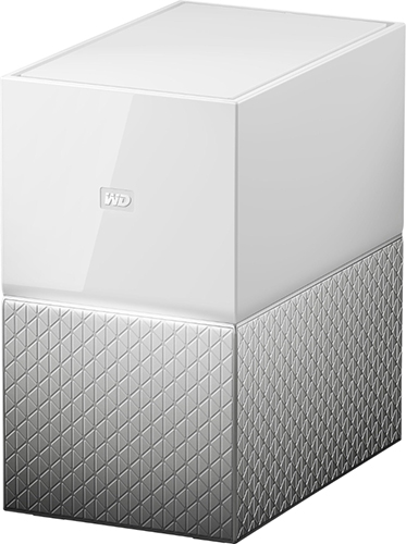WD, My, Cloud, Home, Duo, 4TB, Dual-Drive, Personal, Cloud, Storage, (NAS), RAID1, Media, Server, File, Sync, PC/Mac, Backup, -, White, (LS),