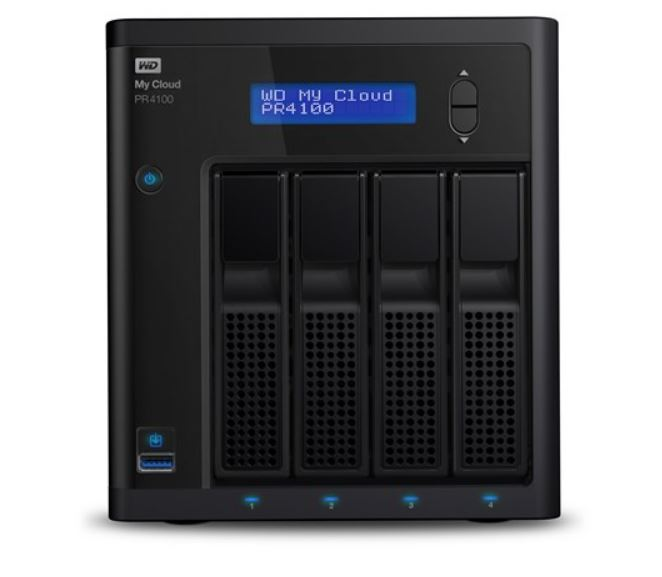 WD, Cloud, PR4100, Pro, Series, 4-bay, 24TB, NAS, -, 1.6GHz, Quad-Core, CPU, 4GB, DDR3, RAID, backup, PLEX, Media, Server, -, Black., 3, Years,