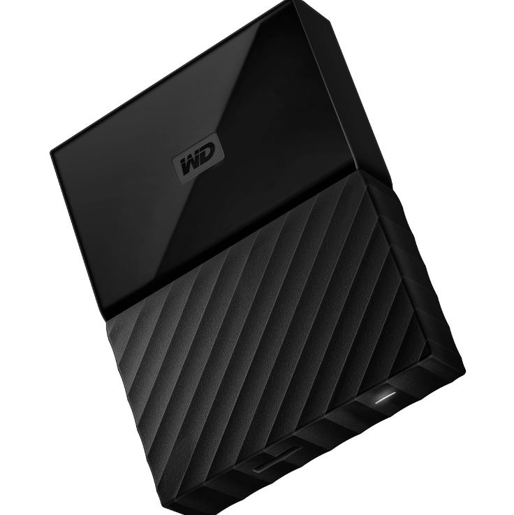 WD, My, Passport, Portable, 2TB, Black, 2.5, Portable, USB3.0., Built-in, 256-bit, AES, Hardware, Encryption, (WDBS4B0020BBK-WESN), (L,