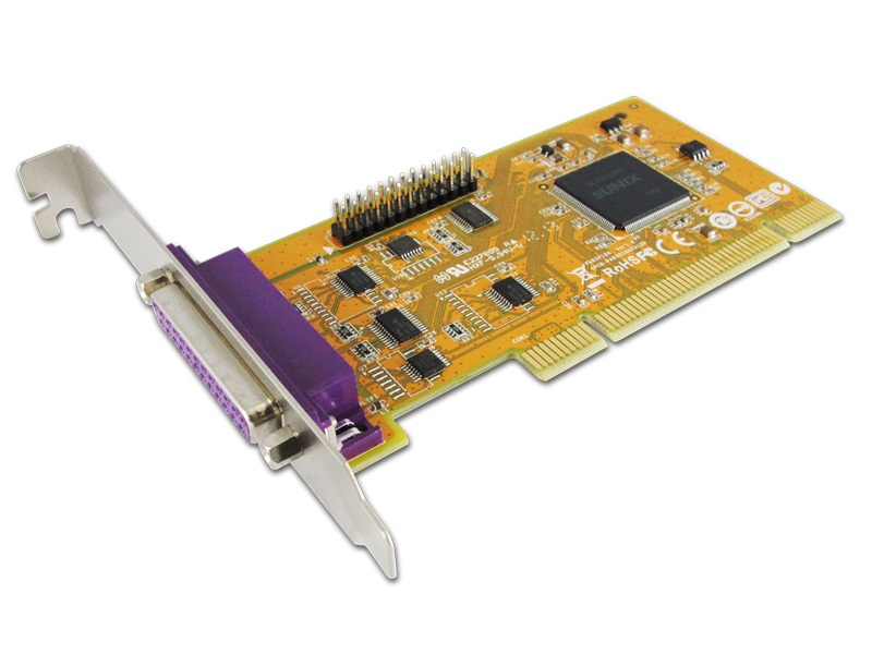 Sunix, ParallelIEEE1284, Card, 2-Port, PCI, Interface, Win, 7/8,
