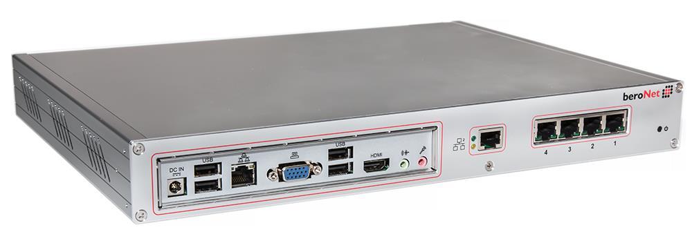 Beronet, Telephony, Appliance, 2xBRI, 2xFXS, Atom, 4xUSB, 2GB,