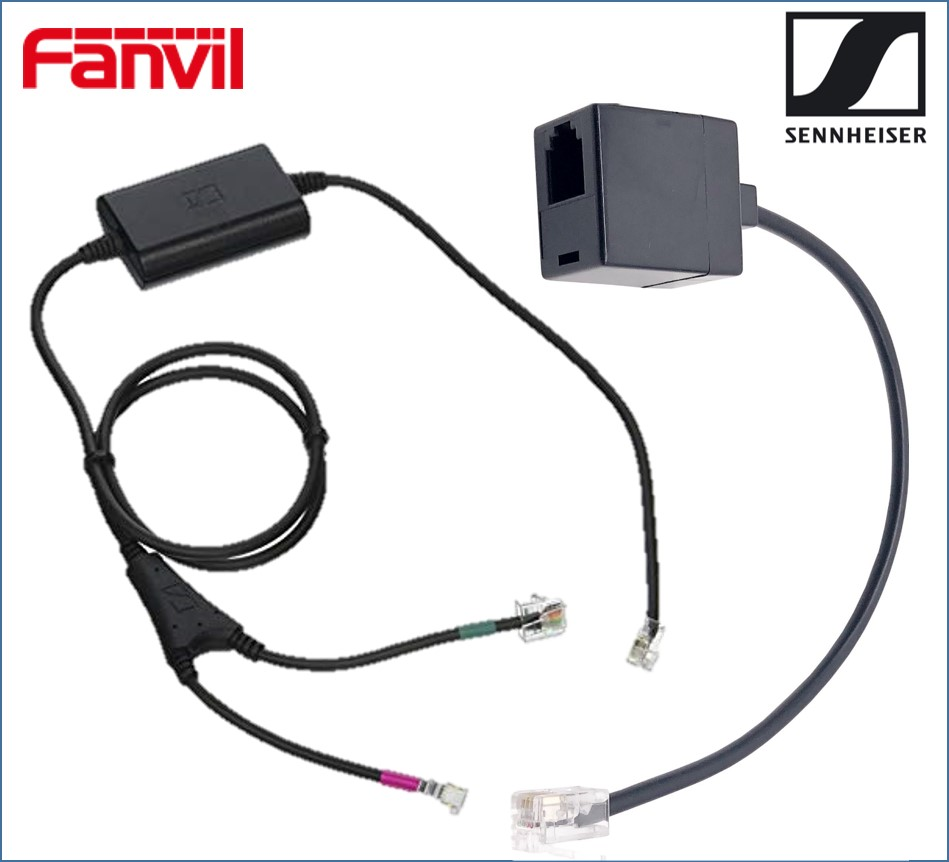 Fanvil, /, Sennheiser, Electronic, Hook, Switch, (EHS), Adapter, -, Inc, RJ9, Connector, Cable,