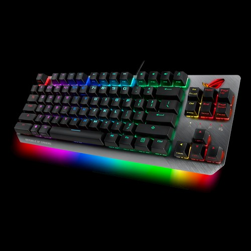 ASUS, X802, STRIX, SCOPE, TKL/RD, Wired, Mechanical, RGB, Gaming, Keyboard, For, FPS, Games, Cherry, MX, Switches, Aluminum, Frame, Aur,