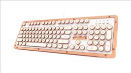 AZIO, RETRO, CLASSIC, Vintage, Typewriter, USB, Backlit, Mechanical, Keyboard, -, Alloy, Leather, Trim, POSH, -, Premium, Leather/NKRO/U,