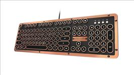 AZIO, RETRO, CLASSIC, Vintage, Typewriter, USB, Backlit, Mechanical, Keyboard, -, Alloy, Leather, Trim, ARTISAN, -, Premium, Leather/NK,