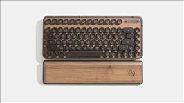 AZIO, RETRO, CLASSIC, COMPACT, Vintage, Typewriter, Bluetooth, &, USB, Backlit, Mechanical, Keyboard, -, Alloy, Wood, Trim, ELWOOD, -, USB,