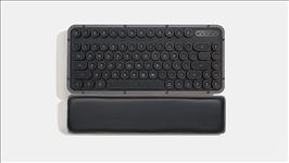 AZIO, RETRO, CLASSIC, COMPACT, Vintage, Typewriter, Bluetooth, &, USB, Backlit, Mechanical, Keyboard, -, Alloy, Genuine, Leather, Trim, G,