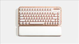 AZIO, RETRO, CLASSIC, COMPACT, Vintage, Typewriter, Bluetooth, &, USB, Backlit, Mechanical, Keyboard, -, Alloy, Genuine, Leather, Trim, P,