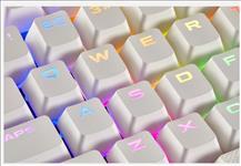 Corsair, Gaming, PBT, Double-shot, Keycaps, Full, 104/105-Keyset, -, White,