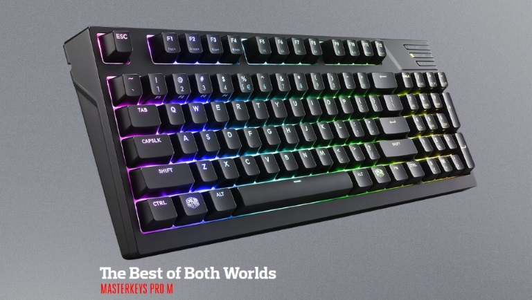 Coolermaster, Masterkeys, Pro, M, RGB, Mechanical, Keyboard, (Blue, switch), Software, &, Hardware, Programmable,