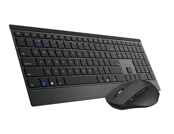 RAPOO, 9500M, Bluetooth, &, 2.4G, Wireless, Multi-mode, Keyboard, Mouse, Combo, Black, -, 1300DPI, 4.5mm, Ultra-Slim,