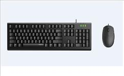 RAPOO, X120pro, -, Wired, Keyboard, and, Mouse, Combo, Optical, Combo, Black, /, 1600dpi, /, Spill, Resistant,