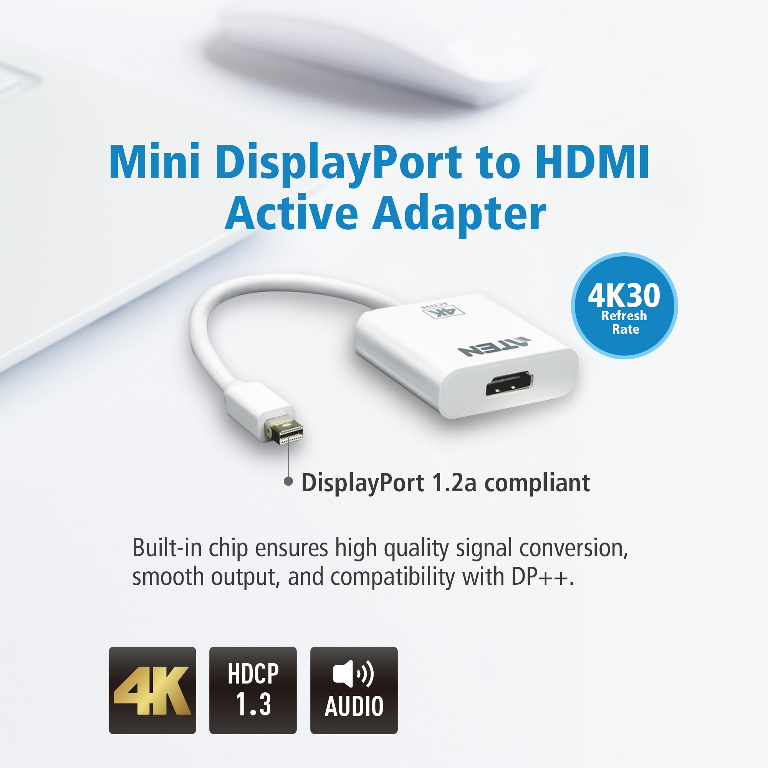 Aten, VanCryst, mDP(M), to, HDMI(F), Active, 4K2K, Adapter,