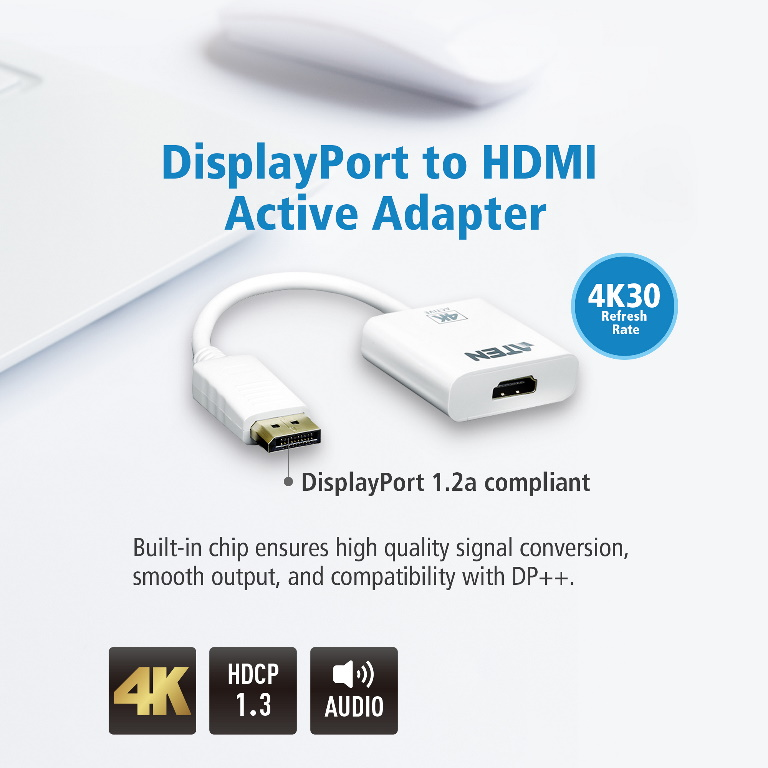 Aten, VanCryst, DP(M), to, HDMI(F), Active, 4K2K, Adapter,